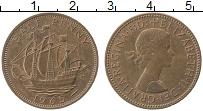 Изображение Монеты Великобритания 1/2 пенни 1965 Бронза XF Елизавета II.