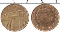 Изображение Монеты Великобритания 1 пенни 2009 Бронза XF Елизавета II.