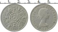Изображение Монеты Великобритания 2 шиллинга 1961 Медно-никель XF Елизавета II.