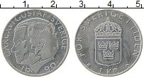 Изображение Монеты Швеция 1 крона 1990 Медно-никель UNC- Карл XVI Густав