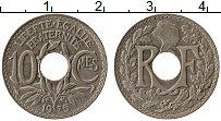 Изображение Монеты Франция 10 сантим 1925 Медно-никель XF