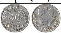 Изображение Монеты Франция 50 сантим 1942 Алюминий XF Правительство Виши
