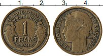 Изображение Монеты Франция 1 франк 1931 Латунь XF