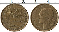 Изображение Монеты Франция 20 франков 1952 Латунь XF