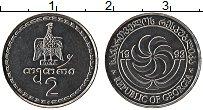 Изображение Монеты Грузия 2 тетри 1993 Медно-никель UNC-