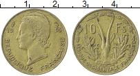 Изображение Монеты Французская Западная Африка 10 франков 1956 Латунь XF