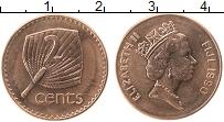 Изображение Монеты Фиджи 2 цента 1990 Бронза UNC- Елизавета II.