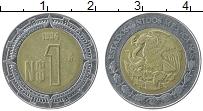 Изображение Монеты Мексика 1 песо 1994 Биметалл XF