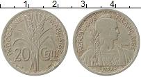 Изображение Монеты Индокитай 20 сантимов 1939 Медно-никель XF