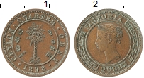 Изображение Монеты Цейлон 1/4 цента 1898 Медь XF