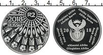 Изображение Монеты ЮАР 2 ранда 2018 Серебро Proof Чемпионат мира по фу