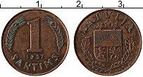 Изображение Монеты Латвия 1 сантим 1937 Бронза XF