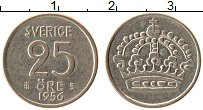 Изображение Монеты Швеция 25 эре 1956 Серебро XF
