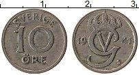 Изображение Монеты Швеция 10 эре 1941 Медно-никель XF Густав V