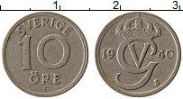 Изображение Монеты Швеция 10 эре 1940 Медно-никель XF
