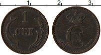 Изображение Монеты Дания 1 эре 1897 Медь XF Кристиан IХ