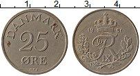 Изображение Монеты Дания 25 эре 1951 Медно-никель XF Фредерик IX