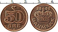 Изображение Монеты Дания 50 эре 2008 Бронза UNC-