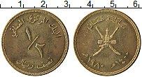 Продать Монеты Оман 1/2 риала 1980 Латунь