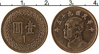 Изображение Монеты Тайвань 1 юань 2006 Бронза UNC- Чан Кайши