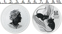 Изображение Монеты Австралия 2 доллара 2020 Серебро Proof