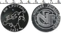 Изображение Монеты Норвегия Медаль 2000 Серебро Proof Футбол Норвегии