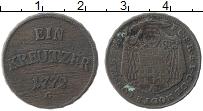 Продать Монеты Констанс 1 крейцер 1772 Медь