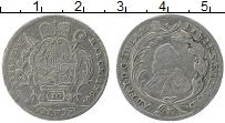 Изображение Монеты Вюрцбург 10 крейцеров 1766 Серебро XF- МР