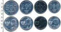 Изображение Наборы монет Индонезия Индонезия 2016 2016  UNC В наборе 4 монеты но