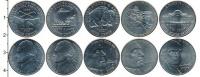 Изображение Наборы монет США Набор 5-центовых монет 0 Медно-никель UNC В наборе 5 монет ном