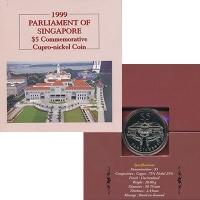 Изображение Подарочные монеты Сингапур 5 долларов 1999 Медно-никель UNC
