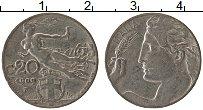 Изображение Монеты Италия 20 сентесим 1909 Медно-никель XF