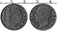 Изображение Монеты Италия 20 сентесим 1940 Железо XF Витторио Эммануил II