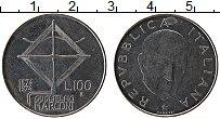 Изображение Монеты Италия 100 лир 1974 Сталь UNC- 100 лет со дня рожде
