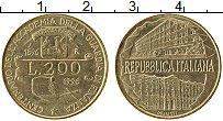 Изображение Монеты Италия 200 лир 1996 Латунь UNC- 100 лет таможни