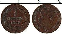 Изображение Монеты Италия 1 сентесим 1895 Медь XF Умберто I