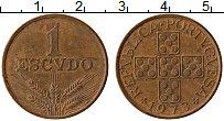 Изображение Монеты Португалия 1 эскудо 1973 Бронза XF