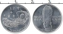 Изображение Монеты Ватикан 2 лиры 1969 Алюминий UNC-