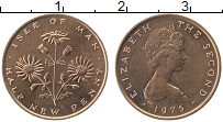Изображение Монеты Остров Мэн 1/2 пенни 1975 Бронза UNC- Елизавета II.