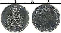 Изображение Монеты Остров Мэн 5 пенсов 1995 Медно-никель UNC-