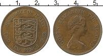 Изображение Монеты Остров Джерси 2 пенса 1975 Бронза XF