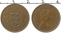 Изображение Монеты Остров Джерси 1 пенни 1980 Бронза XF