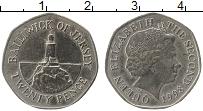 Изображение Монеты Остров Джерси 20 пенсов 1998 Медно-никель XF Елизавета II.