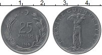 Изображение Монеты Турция 25 куруш 1966 Медно-никель XF
