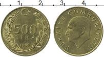Изображение Монеты Турция 500 лир 1989 Латунь UNC-