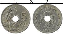 Изображение Монеты Бельгия 5 сантим 1910 Медно-никель XF