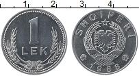 Изображение Монеты Албания 1 лек 1988 Алюминий UNC-