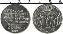 Изображение Монеты Андорра 25 сентим 1995 Медно-никель UNC-