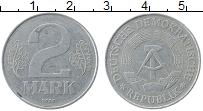Изображение Монеты ГДР 2 марки 1977 Алюминий XF