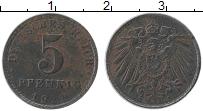 Изображение Монеты Германия 5 пфеннигов 1921 Железо XF A